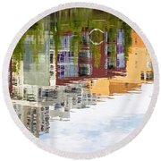 Creekside Reflections Round Beach Towel