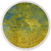 Creekwater Abstract Round Beach Towel