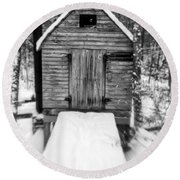 Creepy Cabin In The Woods Round Beach Towel by Edward Fielding