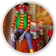 Creepy Clown Round Beach Towel