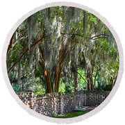 Crepe Myrtles Of Middleton Place Round Beach Towel