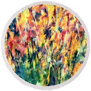 Crescendo Of Spring Abstract Round Beach Towel