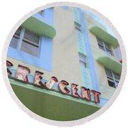 Crescent Hotel Round Beach Towel