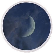 Crescent Moon Round Beach Towel
