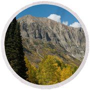 Crested Butte Colorado Round Beach Towel
