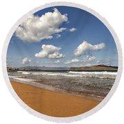 Cretan Beach Round Beach Towel