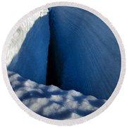 Crevasse Round Beach Towel