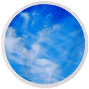 Cris Cross Clouds IIi Round Beach Towel