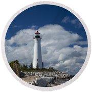 Crisp Point Lighthouse 15 Round Beach Towel