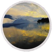 Crooked Frame Round Beach Towel