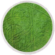 Crop Circles Round Beach Towel