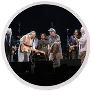 Crosby Stills Nash And Young Round Beach Towel