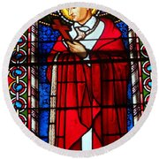Cross And Red Robe Round Beach Towel