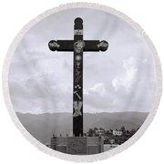 Cross Of Jesus Christ Round Beach Towel
