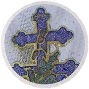 Cross Of Lorraine 1 Round Beach Towel