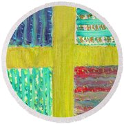 Cross -vegetable- Garden Round Beach Towel