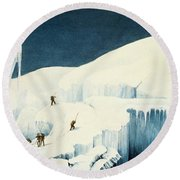 Crossing A Ravine, From A Narrative Round Beach Towel