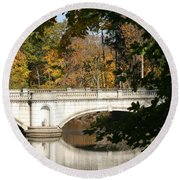 Crossing Over Into Autumn Round Beach Towel