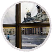 Crossing Over St. Basil Cathedral Round Beach Towel