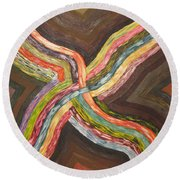 Crossroads Round Beach Towel