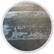 Crosswalk Shadow 1 Round Beach Towel