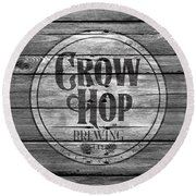 Crow Hop Brewing Round Beach Towel