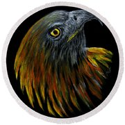 Crowhawk Original Round Beach Towel