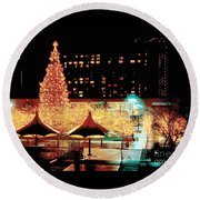Crown Center Christmas - Kansas City-1 Round Beach Towel