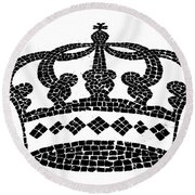 Crown Graphic Design Round Beach Towel