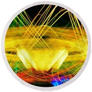 Crown Of Light Round Beach Towel
