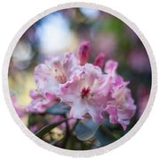 Crown Of Rhodies Round Beach Towel