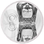 Crown Royal Black And White Round Beach Towel