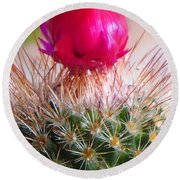 Crowned Beauty Round Beach Towel