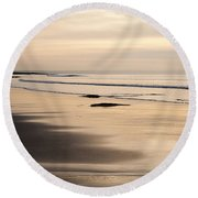 Croyde At Dusk Round Beach Towel