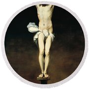 Crucifixion Of Christ Round Beach Towel