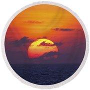 Cruise Sunset Round Beach Towel