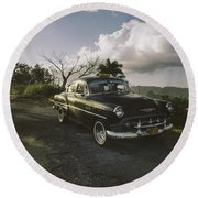 Cruising Into The Weekend.. Round Beach Towel