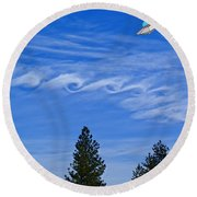 Cruising Over Spokane Round Beach Towel
