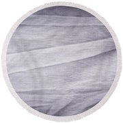 Crumpled Cotton Round Beach Towel