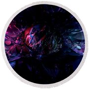 Crushed Abstract Round Beach Towel