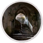 Crypt Of The Martyr San Marciano In Syracuse Round Beach Towel