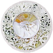 Crystal Ball Project 87 Round Beach Towel