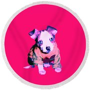 Crystal Warhol Round Beach Towel