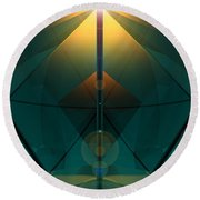 Crystal Cathedral Round Beach Towel