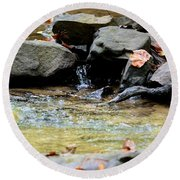 Crystal Clear Waters Of Hurricane Branch Round Beach Towel