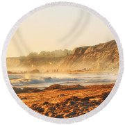 Crystal Cove At Sunset 1 Round Beach Towel