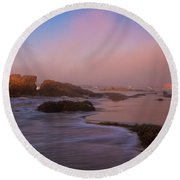 Crystal Cove State Park Round Beach Towel