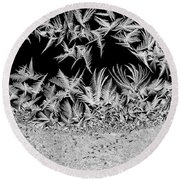 Crystal Feathers Round Beach Towel