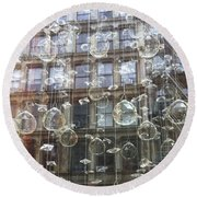 Crystal Ornaments Round Beach Towel