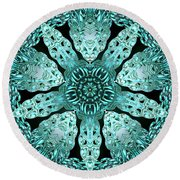 Crystal Perspective Round Beach Towel